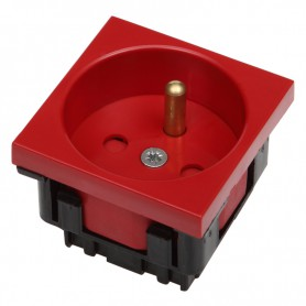 Gniazdo zasilania DATA czerwone 1x(2P+T) 2 MOD