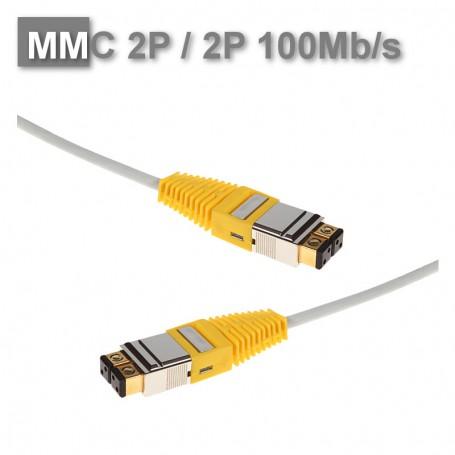 Patchcord 2P/2P SF/UTP ekranowany NL MMC 100Mb/s