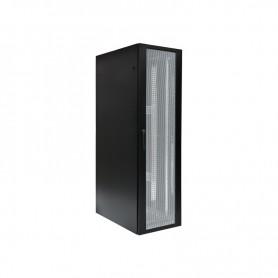 Szafa serwerowa BKT 4DC drzwi przód perforowane tył dwuskrzydłowe perforowane RAL9005, bez ścian bocznych