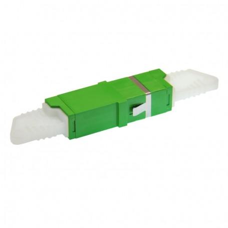 Adapter E2000/APC SM simplex zielony BKT (z flanszą)