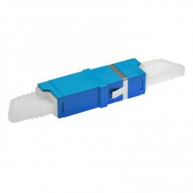 Adapter E2000/PC SM simplex niebieski BKT (z flanszą)