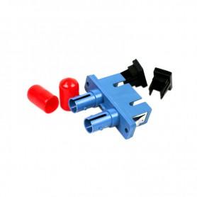 Adapter hybrydowy ST/SC SM duplex niebieski