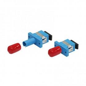 Adapter hybrydowy ST/SC SM simplex niebieski