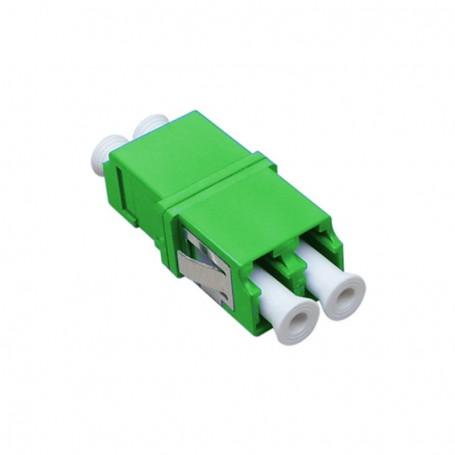 Adapter LC  SM duplex zielony (bez flanszy)