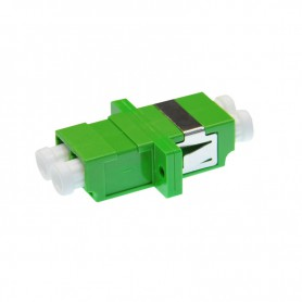 Adapter LC  SM duplex zielony (z flanszą)