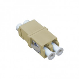 Adapter LC MM duplex szary (bez flanszy)