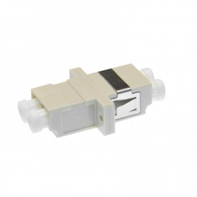 Adapter LC MM duplex szary (z flanszą)