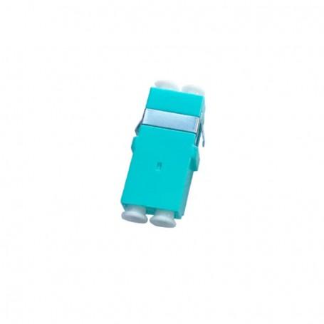 Adapter LC MM duplex turkusowy OM3 (bez flanszy)