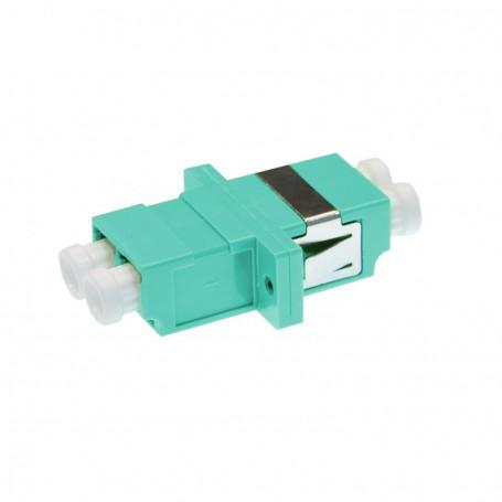 Adapter LC MM duplex turkusowy OM3 (z flanszą)
