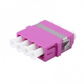 Adapter LC MM quad (poczwórny) fioletowy (Erika Violet) OM4 (bez flanszy)