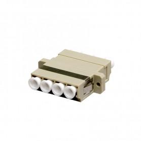 Adapter LC MM quad (poczwórny) szary (z flanszą)