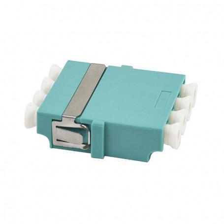 Adapter LC MM quad (poczwórny) turkusowy OM3 (bez flanszy)