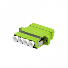 Adapter LC MM quad jasnozielony (Lemon) OM5 (z flanszą)