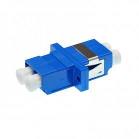 Adapter LC SM duplex niebieski (z flanszą)