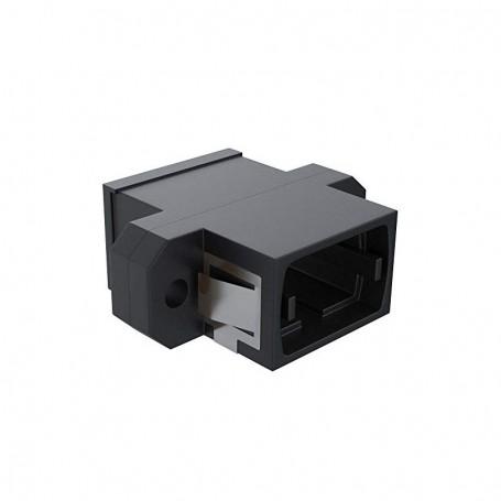 Adapter MPO key up/down - SC simplex footprint (z flanszą) czarny