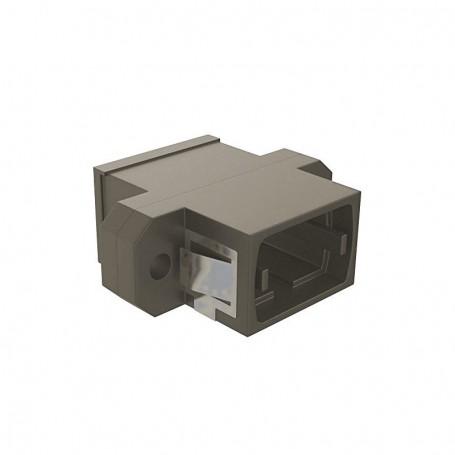 Adapter MPO key up/down - SC simplex footprint (z flanszą) szary