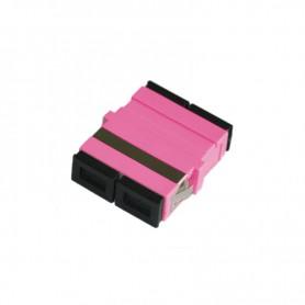 Adapter SC MM duplex fioletowy (Erika Violet) OM4 (bez flanszy)
