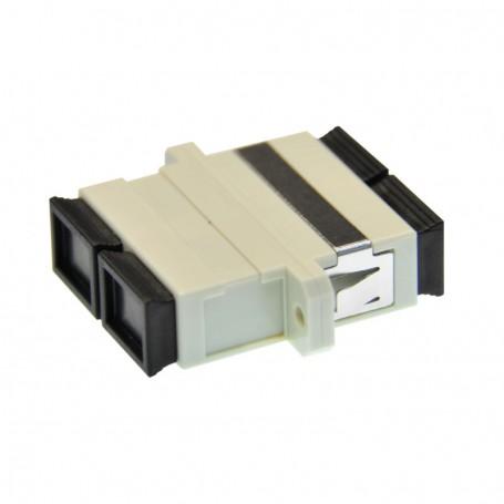 Adapter SC MM duplex szary (z flanszą)