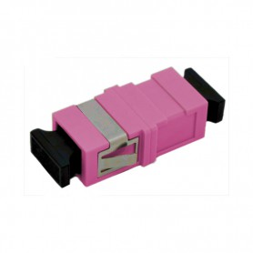 Adapter SC MM simplex fioletowy (Erika Violet) OM4 (bez flanszy)
