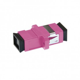 Adapter SC MM simplex fioletowy (Erika Violet) OM4 (z flanszą)