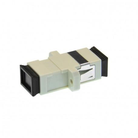 Adapter SC MM simplex szary (z flanszą)