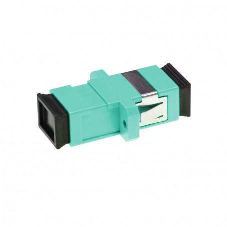 Adapter SC MM simplex turkusowy OM3 (z flanszą)