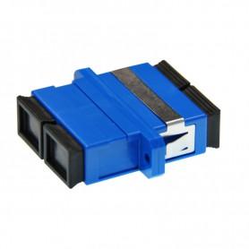 Adapter SC SM duplex niebieski (z flanszą)