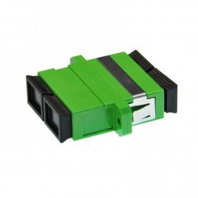 Adapter SC SM duplex zielony (z flanszą)