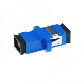 Adapter SC SM simplex niebieski (z flanszą)