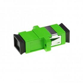 Adapter SC SM simplex zielony  (z flanszą)
