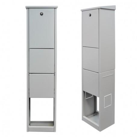 Zewnętrzna szafka dystrybucyjna 216 włókien RAL7035 BKT AQCab