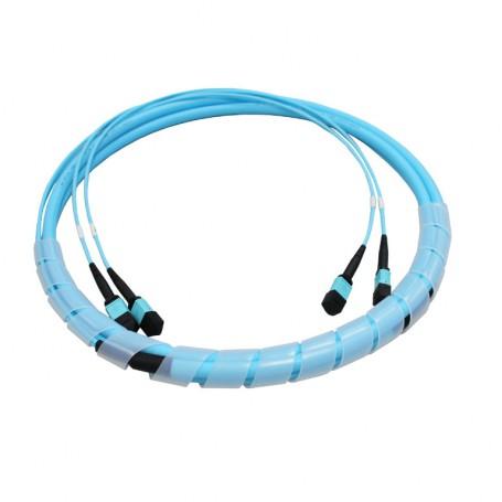 Kabel 24F (1x24F) typu B (skrosowany) MPO żeński - MPO żeński MM
