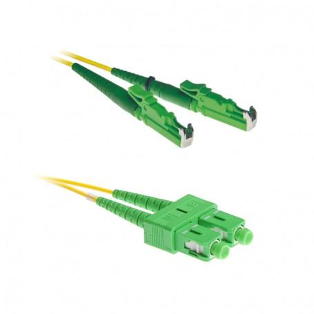Patchcord E2000/APC-FC/APC OS2 G652D 9/125μm DX 1m