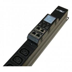 Listwa monitorująca BPS2000 21xIEC320 C13 + 3xIEC320 C19, wtyk IEC 60309 32A/400V Temp./Wilg.