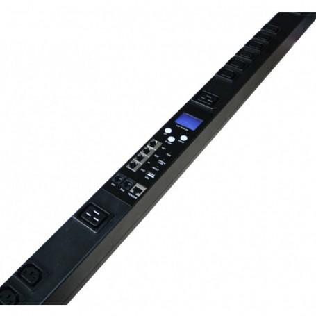 Listwa zarządzalna pionowa BKT RPDU typ A 18xIEC320 C13 + 6xIEC320 C19 wtyk IEC 60309 32A/400V 2xTemp/Wilg 3x32A wył nadprąd