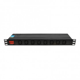 "Listwa zasilająca BKT DUAL 19"" 1U p: 8xIEC 320 C13 t: 6xIEC 320 C19 amp/volt bezp.16A wtyk IEC320 C20 16A/250V"