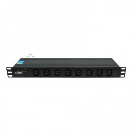 """Listwa zasilająca BKT DUAL 19"""" 1U p: 8xIEC 320 C13 t: 8xIEC 320 C13 LED wtyk  IEC320 C20 16A/250V"""