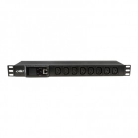 "Listwa zasilająca BKT DUAL 19"" 1U p:8xIEC 320 C13 t:6xIEC 320 C19 amp/volt alarm wył. nad-prąd. 32A wtyk IEC 60309 32A/250V"