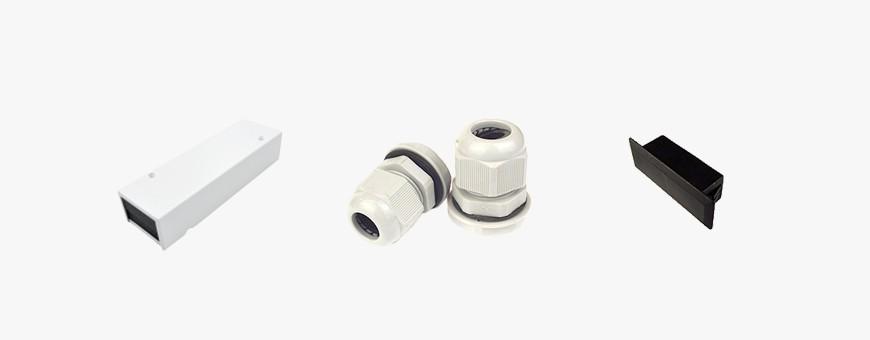 Fiber Optic Accessories - Tub Splitters, End Caps, Cable Glands, etc.